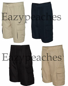 Burnside-Microfiber-Shorts-Golf-Hike-Sport-Cargo-Pocket-Mens-Sizes-30-40-b9803