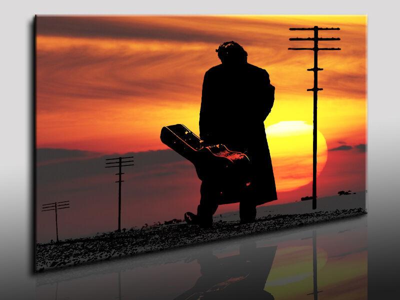 Immagine su Tela Johnny Cash Quadro Dipinto a Parete, Telaio con Cunei