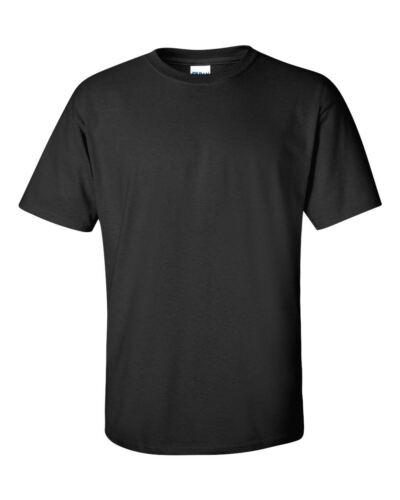 100/% COTTON PLAIN PACK OF 2 MENS SUMMER T-SHIRTS BLACK WHITE BY GILDAN FREE POST