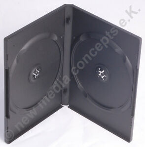 Amaray-dvd-doppelboxen-plastico-para-2-CD-DVD-50-pieza