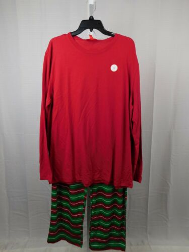Family PJs Men/'s Holiday Stripe Christmas Pajama Set Size XL #7693