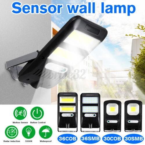 Solar Powered LED Street Light Radar Indution PIR Motion Sensor Wall Lamp