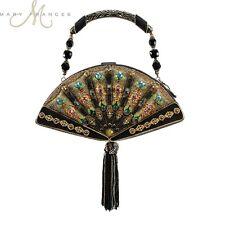 Mary Frances Fan Out Handbag Japanese Black Hand Beaded Evening Bag Purse