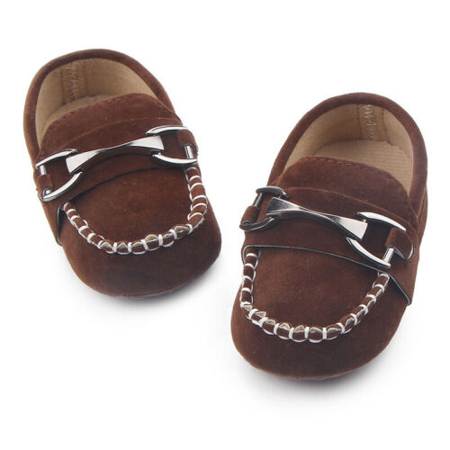 2019 Newborn Baby Boy Fitness First Walkers Kid  Hasp Shoes Crib Soft Loafers