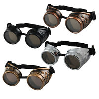 Vintage Victorian Steampunk Goggles Glasses Welding Cyber Punk Gothic Cosplay EW