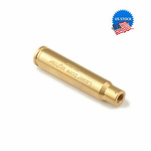 US Red Laser CAL 8mm Brass Bullet Bore Sighter Cartridge Visible Boresight