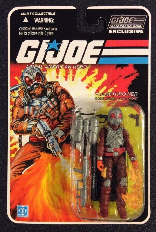 GI JOE Flamethrower CHARBROIL azione cifra CLUB EXCLUSIVE 3 34 NOC 2016 nuovo