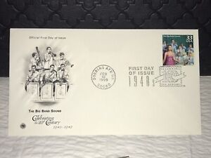 1999 THE BIG BAND SOUND First Day Issue Postal Cover, NM, Ship Free