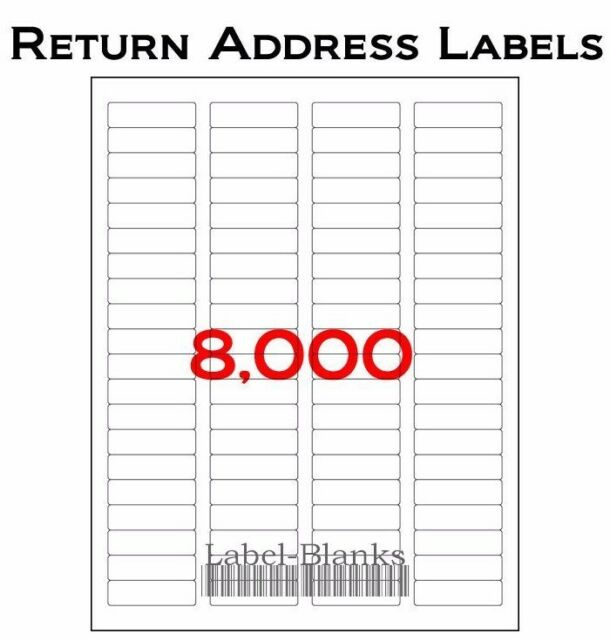 8000 address labels 100 sheets of compatible avery 5167 size