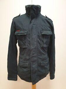 R542-Herren-Rookie-Edition-Militaer-Ausgabe-blau-Baumwolle-Jacke-UK-S-EU-46