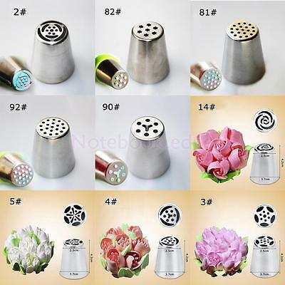 9pcs/Set Rose Tulip Icing Piping Nozzle Cake Decoration Tip Cooking Tool