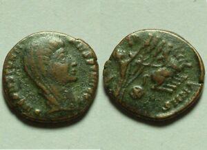 Rare Genuine Ancient Roman coin Postumus Constantine Veiled Quadriga hand of God