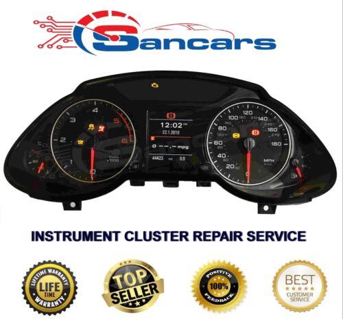Audi A5 Q5 INSTRUMENT CLUSTER SPEEDO CLOCKS REPAIR SERVICE.