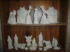C415- Ceramic Bisque 20 Piece Large Byron Nativity Set - Ready to Paint