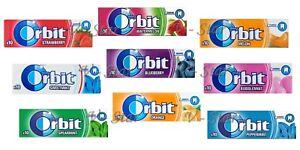 ORIGINALE-Wrigley-039-s-Orbit-gomma-da-masticare-10-pacchetti-fresco-di-magazzino