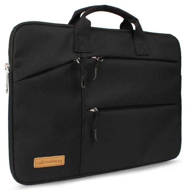 "15.6/"" Laptop Computer Sleeve Bag with 2 Top Pockets /& Shoulder Strap Handle 2715"
