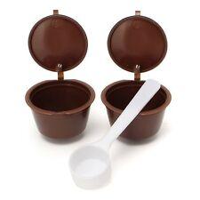 2 x riutilizzabile Ricaricabili Compatibili Capsule di Caffè Capsule per macchine Dolce Gusto