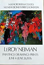 LeRoy Neiman Horse Racing Poster V for His Show at Knoedler Graphics 16x11