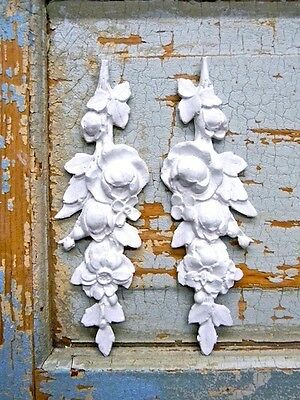 SHABBY n CHIC ROSE DROPS-FURNITURE APPLIQUES-WOOD & RESIN