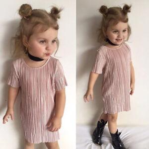 Confident Uk Summer Toddler Kid Baby Girl Floral Clothes Short Sleeve Dress Skirt Sundress Dresses