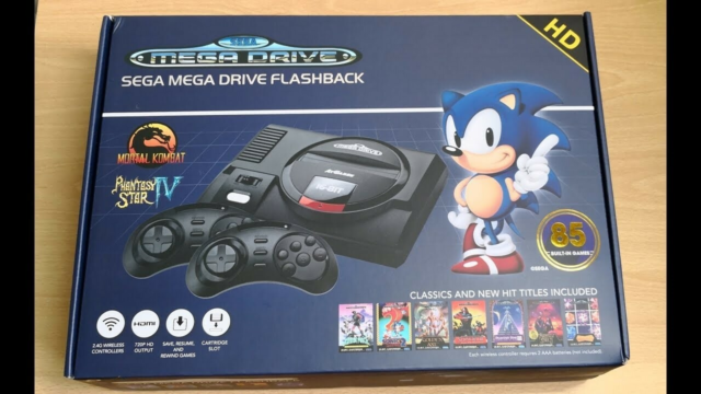 Sega genesis flashback, Console + 85 built in games +…