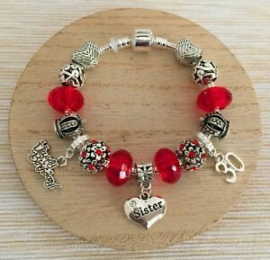 Details About Personalised BIRTHDAY Gifts Bracelet 15th 16th 18th 21st 30th Gift For Her 11