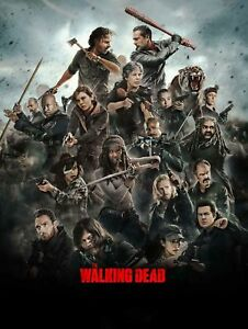 The Walking Dead 2018 TV Series All Here 2018 Film LW-Canvas