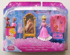 """DISNEY Cenerentola 3 1/2 """"mini testa di bambola (più di stile di plastica morbida Abito) + Furniture"""