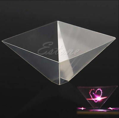 3D Holographic Display Pyramid Stand Projector for 3.5''~6.5'' Smart Cell Phone