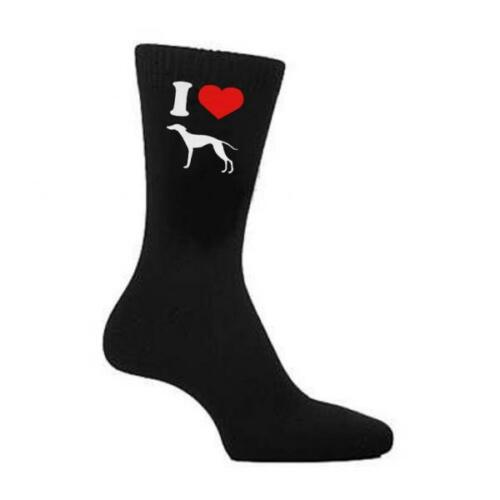 I love whippet chien amant walker homme chaussettes de noël anniversaire cadeau