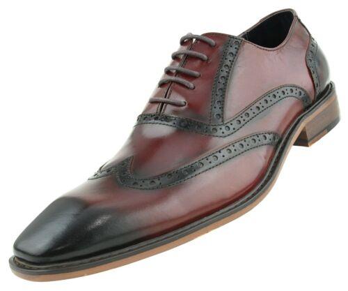 Lace-Up Wingtip Genuine Leather Shoes for Men Mens Dress Shoes Men/'s Oxfords