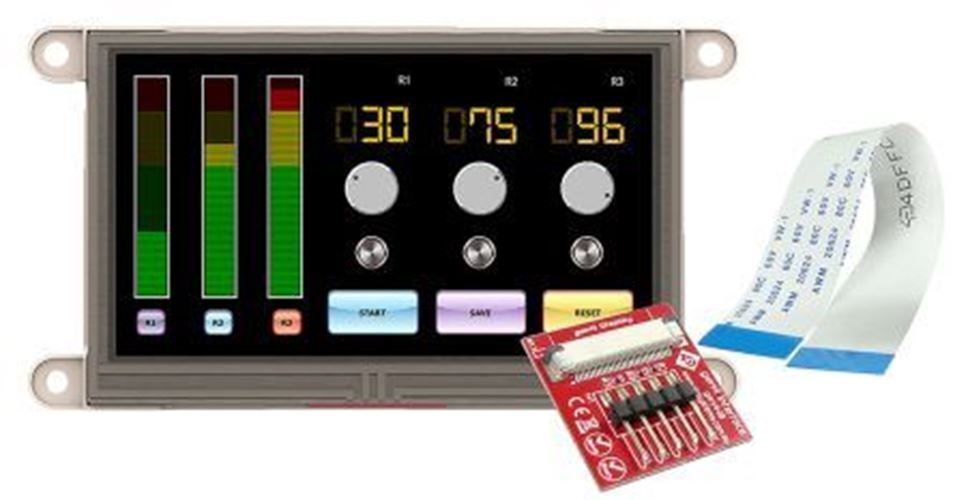 4D Systems gen4-uLCD-43DT TFT LCD Colour Display   Touch Screen, 4.3in, 480 x 27