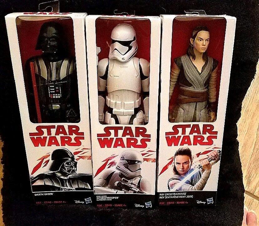 Star Wars  The Last Jedi First Order Stormtrooper, Darth Vader & Rey