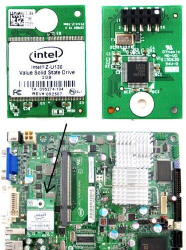 INTEL Z-U130 Internal USB Header SSD Hard Drive 2GB NAND FLASH MEMORY