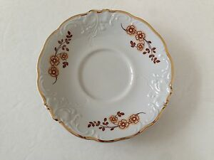 saucer trim with Brown gold