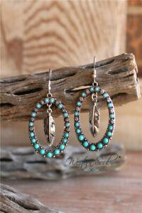 925-Silver-Natural-Turquoise-Ear-Hook-Dangle-Drop-Leaf-Earrings-Wedding-Jewelry