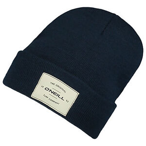 O-039-Neill-Homme-Bonnet-New-Timepiece-Noir-Hiver-Tricot-Turn-Up-Cap-7-W-114-9010