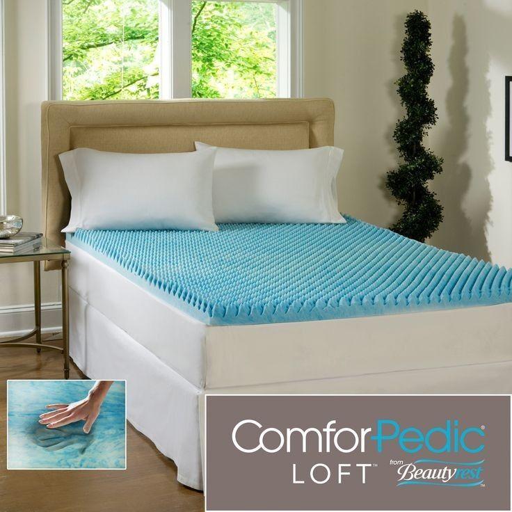 NEW  COOL 3  TEXTUrot ULTIMATE COMFORT MEMORY FOAM GEL BED MATTRESS PAD TOPPER