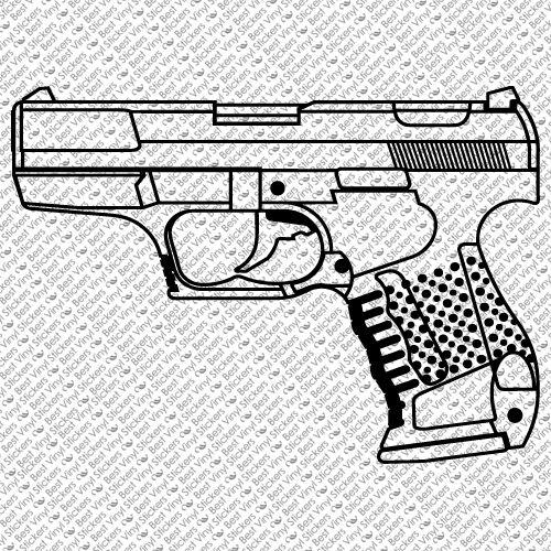 PISTOL WALTHER P99 HAND GUN SPORT SHOOTING CAR WINDOW VINYL DECAL STICKER PG-1