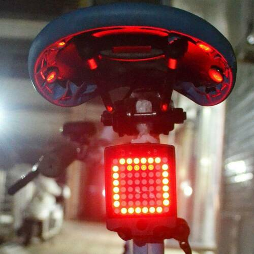 USB LED Tail Light Turn Signal Rear Brake Lamp bike Bicycle Night Warning Lamp