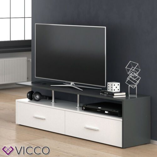 VICCO Lowboard AMATO Kommode Schrank Weiß Anrichte Fernsehschrank TV
