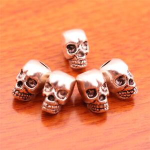 20PCS-Charm-Spacer-Skull-Bead-Diy-Jewelry-Bracelet-Necklace-Tibet-Silver-D7068