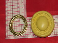 Oval Photo Frame Silicone Mold Mould Polymer Clay Resin Miniature Dollhouse 116