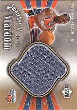 2005/6 UD Trilogy Swatches of Stardom Raymond Felton jersey RC 24/50 Bobcats