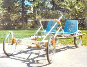 4 Wheel Bike Plans Diy Pedal Car Quad Cycle Rickshaw Pedicab Build