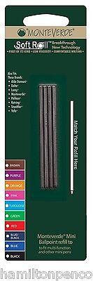 MONTEVERDE MINI SIZE D1 BALLPOINT REFILLS - D132 Medium point in 10 colours