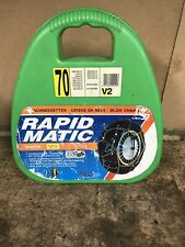 Due Catene da neve Maggi Rapid Matic V2 gr45  175//60-14 185//55-14