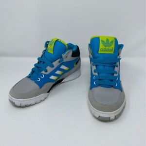 Adidas-Boys-Sneakers-Athletic-Shoes-Gray-Blue-Green-High-Top-Lace-Up-Trainers-5