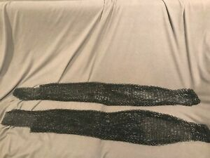 Medieval-Renaissance-Blackened-Flat-Ring-Chainmail-Chausses-Leggings-L