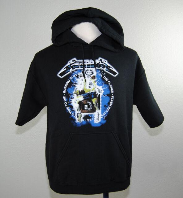 956b3931 New Metallica Ride The Lightning Pacsun Short Sleeve Hoodie Shirt Size Small